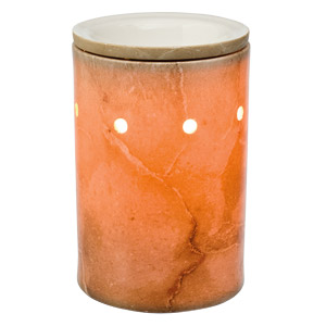 Travertine Core Silhouette Scentsy Warmer (with Wrap)