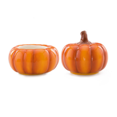 Harvest Pumpkins - DISH AND LID