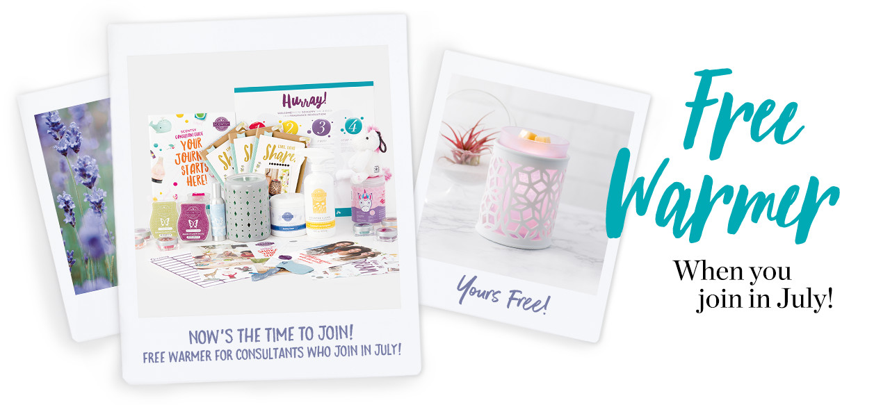 Get an extra free warmer when you sign up to be a consultant in July!