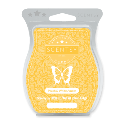 Peach & White Amber Scentsy Bar